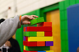 Colorful Blocks being used by a child